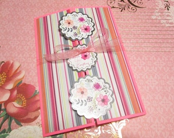 Handmade Card - THANK YOU for EVERYTHING - gate fold card with touches of silver foil