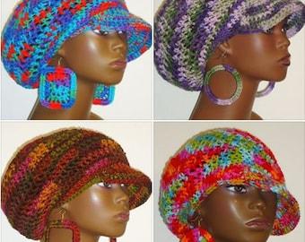 Assorted Patterns Medium Brimmed Cap and Earrings by Razonda Lee Razondalee