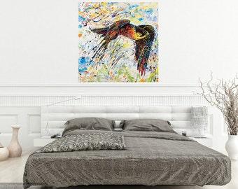 Livingroom art, Falcon art, Bird of Prey art, Bird art, Nature art, metal prints,  Johno Prascak, Johnos Art Studio