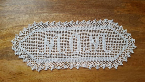 Personalized mom gift for mom, mothers day from daughter, from son, planter, mothers day gift, crochet doily