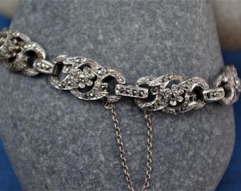 Superb - Sphinx - Art Deco style - Marcasite Bracelet - c1950s