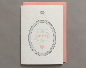Home Sweet Home / Card for New Home / Housewarming Card / Congratulations Card / Hostess Gift / Blank Greeting Card