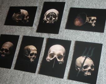 Postcard skull pack - 02