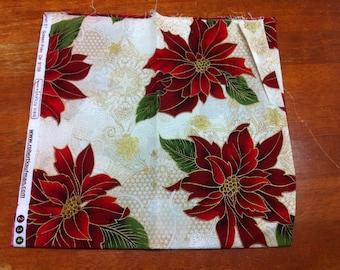 Poinsettia Fat Quarter Cotton Fabric