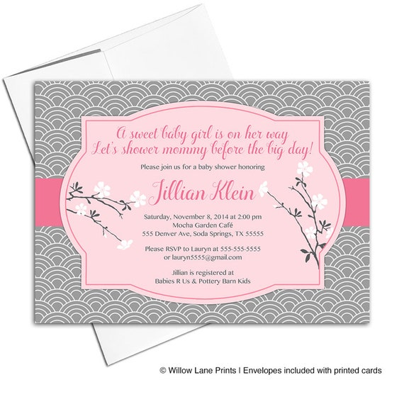 Baby girl shower invitation printable file cherry blossom baby il570xn filmwisefo