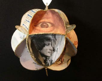 John Lennon Album Cover Ornament Made Of Record Jackets - Beatles
