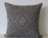 Valentines Day Sale Nate Berkus Santa Maria Charcoal Black global ethnic diamond designer pillow cover