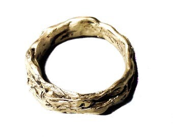 14K Gold Nest Ring, simple and urbane, engagement ring, unisex, made to order sized, free shipping in the US and Canada