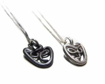 "The Clover Heart Pendant, Sterling Silver 925 on a 16"" chain"