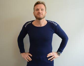 Vintage Blue Long Sleeve Shirt Helly Hansen LIFA Super