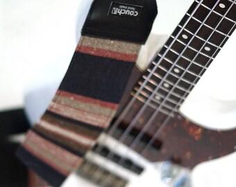 Midnight & Clay Baja Boho Woven 3-inch Guitar Bass Strap