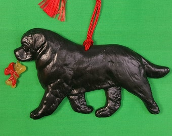 Newfoundland Dog Christmas Ornament by Hot Diggity Dog Fabrics Home and Living Home Decor Ornaments and Accents
