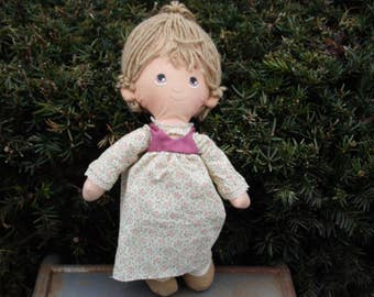 """Doll vintage 1980 Am Toy cloth doll """"Puddin'""""  made Taiwan 15"""" soft doll for your little one to love and play with"""