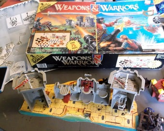 REPLACEMENT Parts for 1997 Pressman Weapons & Warriors Game Board Instructions and pieces PIrate Clash Game and Castle Storm Game
