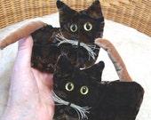 Tortie Kitten, lavender sachet, velvet stuffed cat