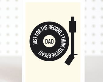 You're Great - Father's Day Card - Dad Birthday Card - Music Fathers Day