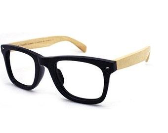 20% OFF TAKE MJX1302 wayfarer handmade  acetate frame with bamboo arm glasses with prescription  lenses