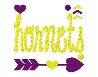 Hornets // Football// Machine Embroidery Design // Sports Embroidery Design // Mascot Embroidery Design //Embroidery Design//Joyful Stitches