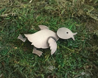 Sterling silver chick pin