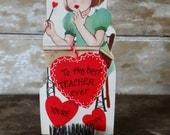 Vintage Valentine Teacher Sweet 1950's or Earlier Retro