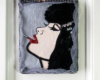 Mixed Media Wall Art ~ Smoking Betty