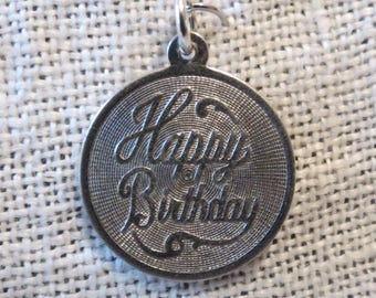 Happy Birthday Sterling Silver Charm