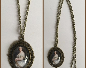 Queen Victoria Inspired Cameo Necklace