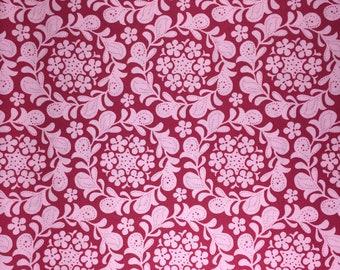 Meadowsweet Henna Garden raspberry Sandi Henderson fabric FQ or more oop htf