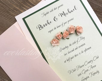 Greenery Floral Rustic Invitation wedding baptism birth announcement rehearsal dinner engagement