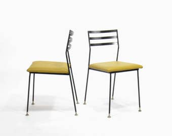 Mid Century Vista of California No. 711 Iron Dining Chairs (Set of 2)