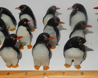 Carved Black Onyx Penguins