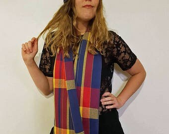 MADE TO ORDER - Handwoven Football Cotton Loop Scarf - Adelaide Crows