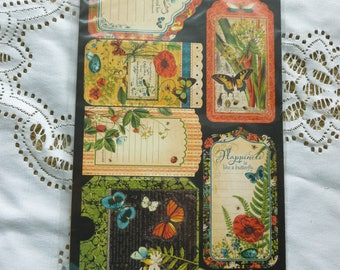 Graphic 45 Nature Sketchbook Cardstock Tags and Pockets
