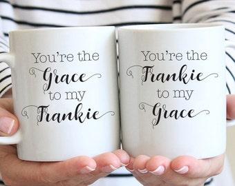 Grace & Frankie | Friends | Friendship | Cute Matching Gift Set | Coffee Mugs