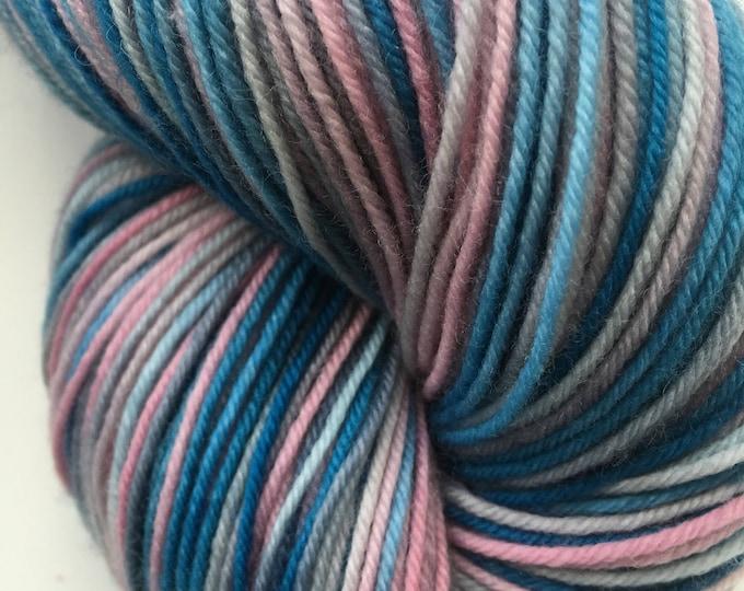 Marine Blue and Pink Variegated Sock Yarn