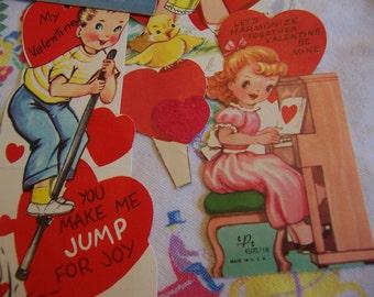 4 sweet adorable 50's tiny valentines