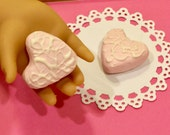 Miniature Be My Valentine Snack Cakes for American Girl Dolls 1:3 scale Valentines