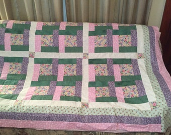 Bright Hope quilt top, edging and backing  85 x 103 inches and only 10 dollars shipping