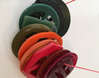 Vintage Buckle Collection / Vintage Plastic / Lucite / Bakelite Buckles / Orange Buckles / Green Buckles / Bulk Buckles