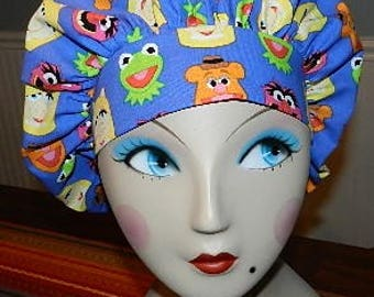 Muppets  Banded Bouffant Surgical Cap / Bakers Cap