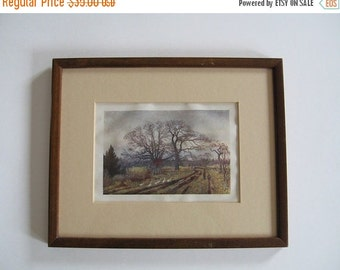 ON SALE Antique Framed Print Thomas Mower Martin Victoria, BC Canada 1907 Collectible
