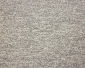 Light Grey and White Brushed Heathered Hacci Sweater Knit Fabric, 1 Yard