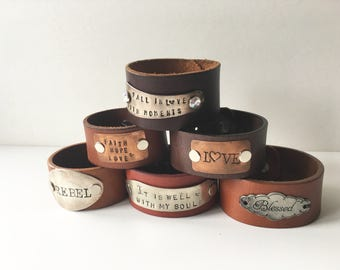 Chic Leather Cuffs- You Pick Your favorite!