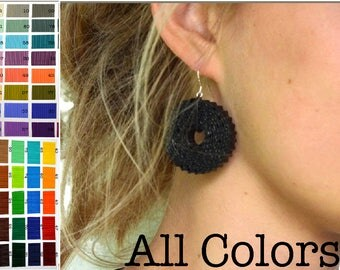 All COLORS: Earrings ROTA made of corrugated cardboard