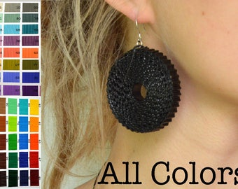 All COLORS: Earrings ROTA LARGE made of corrugated cardboard