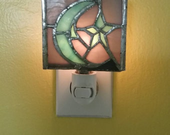 Hand-made Phish Farm House Stained Glass Nightlight Light