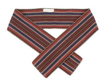 designer vintage boho woven belt • 1980s calvin klein sash obi belt