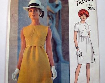 """Antique Fabiani Vogue Couturier Design Pattern #2065 - size 36"""" Bust"""