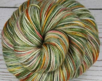 CHINESE GARDEN: Superwash Merino Wool-Nylon-Cashmere - Fingering / Sock Weight Yarn - Hand dyed sock yarn - Indie dyed - Variegated yarn