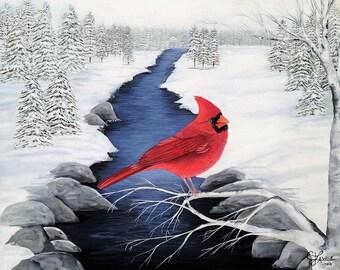 Messanger from  Heaven /Original Cardinal Painting
